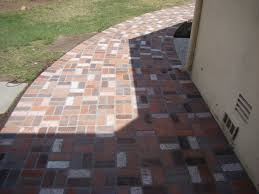 Basket Weave Brick Patio by Stonescapes Custom Masonry Santa Barbara County Patio U0026 Decks