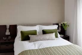 dark brown color wooden bed frames bedroom color scheme black blue