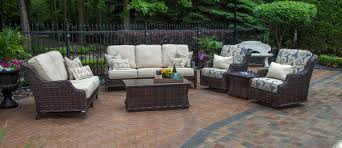 How To Fix Wicker Patio Furniture - mila collection all weather wicker patio furniture deep seating