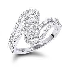 diamond rings diamond cluster rings womens ladies diamond cluster rings at