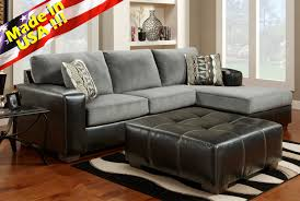 Black Sectional Sofa With Chaise Roundhill Furniture