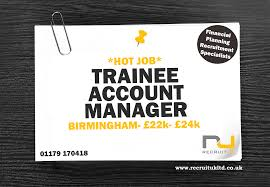 graduate trainee account manager investment management