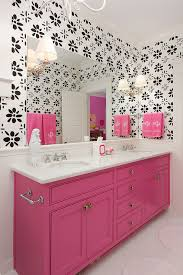black and pink bathroom ideas pink washstand contemporary bathroom colordrunk design