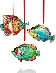 tropical fish ornaments rainforest islands ferry