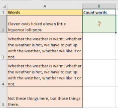 Count Number Of Words In Excel Quickly Count The Number Of Words In A Cell Or A Range In Excel