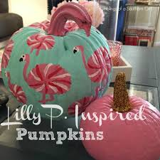 Lilly Pulitzer Furniture by Ramblings Of A Southern Lilly P Inspired Pumpkins