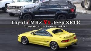 stanced jeep srt8 toyota mr2 vs jeep srt8 youtube