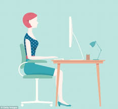 Sitting On A Medicine Ball At Desk How Sitting On A Chair Flattens Your Daily Mail Online