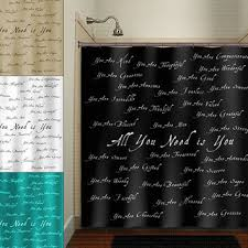 Shower Curtains With Writing Shower Curtain With Words 100 Images Shower Curtains Kassatex