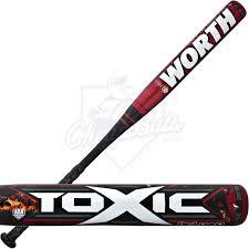 worth bats toxic reload slowpitch softball bat sbrlda