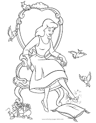 cinderella coloring pages coloring pages kids disney