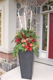 Large Planters Cheap by Best 25 Christmas Planters Ideas On Pinterest Outdoor Christmas
