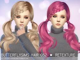 custom hair for sims 4 sims 4 hairs aveira sims 4 butterfly s 052 hair retextured