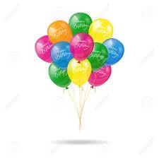 Shiny Balloons With Phrase Happy Birthday Vector Illustration