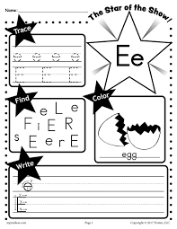free letter e worksheet tracing coloring writing u0026 more
