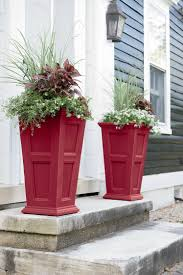 tall planters fairfield self watering patio planter gardeners com