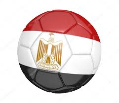 Football Country Flags Soccer Ball Or Football With The Country Flag Of Egypt U2014 Stock