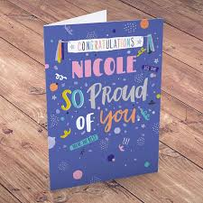 personalised congratulations card so proud of you cardfactory