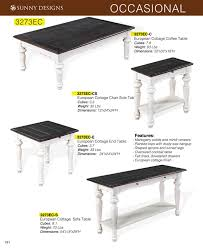 Cottage Sofa Table Prices U2022 Sunny Designs European Cottage Fc Occasional Tables
