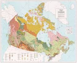 The Map Of Canada by Soils Of Canada 1977