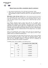 nissan micra diesel price in delhi nissan sunny price slashed press release