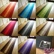 rug runners contemporary cotton runner rug washable envialette