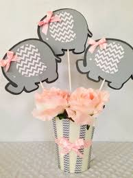 baby shower centerpieces for a girl elephant baby shower centerpiece for pink and gray baby