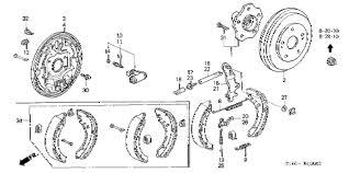 honda crv brake honda store 1998 crv rear brake drum parts