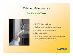 Cabinet Certification Purifier Logic Class Ii Biological Safety Cabinets Presentation