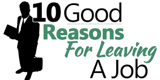 10 good reasons for leaving a job