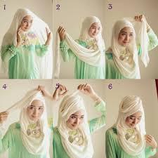 tutorial hijab noura cara memakai jilbab ala dian pelangi yang mudah sikombo