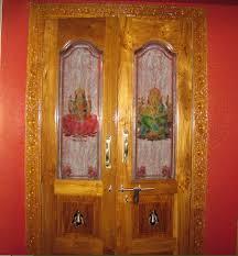 Pooja Room Single Door Designs With Glass