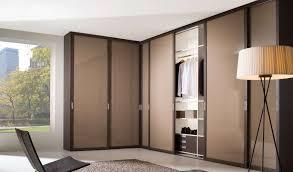 White Floor L Bedroom L Shape Brown Laminated Modern Wardrobe Design