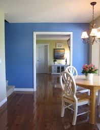 Dining Room Accent Wall The Minimalist Way To Inject Color Before U0026 After Blue Accent