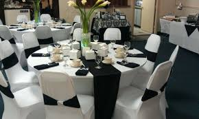 black white and red wedding reception decorations go classy with