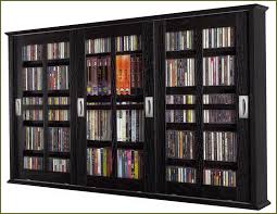 Dvd Storage Cabinet Storage Cabinet With Glass Doors Homesfeed