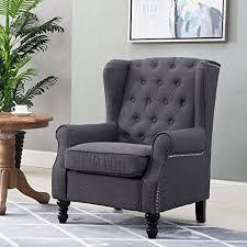 amazon com harper u0026 bright designs wingback accent chair tufted