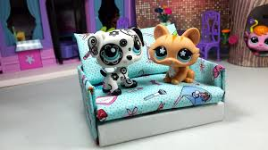 how to make a tiny lps sofa couch dollhouse furniture easy