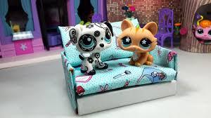 How To Make Homemade Dollhouse Furniture How To Make A Tiny Lps Sofa Couch Dollhouse Furniture Easy