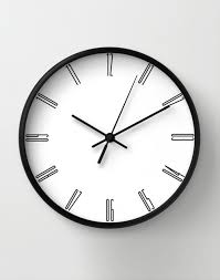 minimalist wall clock tall numbers wall clock minimalist decoration classic wall