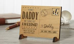 sending to personalized wood postcard groupon