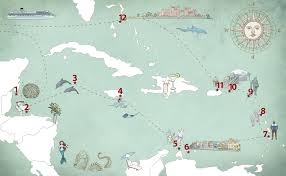 Map Of The Caribbean by A Caribbean Vacation Map