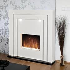 electric fire fireplace led lights free standing white inset