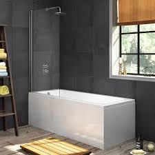 aquasoak 1700 x 700 single ended straight shower bath