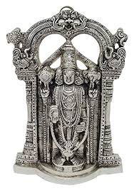 Spiritual Home Decor Rajkruti White Metal Ganesha Spiritual Ganesh Idol Wall Hanging