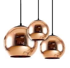 replica tom dixon copper shade round glass pendant light in copper