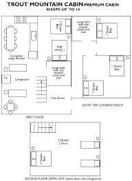 mountain cabin floor plans free