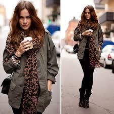 imagenes look invierno looks otoño invierno 2009 moda en la calle print de leopardo