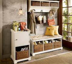 storage chest seat bench hallway image on amusing white hall with