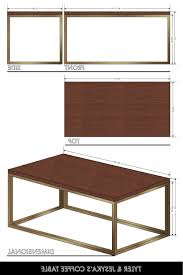 coffee table coffee table measurements with regard to voguish
